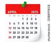April 2015   Calendar