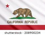 waving flag of california | Shutterstock . vector #208900234