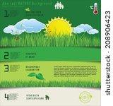 modern ecology design layout | Shutterstock .eps vector #208906423