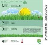 modern ecology design layout | Shutterstock .eps vector #208906429