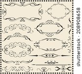classic scroll elements set... | Shutterstock .eps vector #208908658
