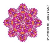 ornamental mandala  vector... | Shutterstock .eps vector #208914214