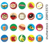 breakfast icon set   food icon... | Shutterstock .eps vector #208915573