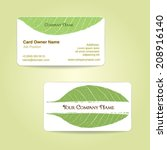 vector business card front and... | Shutterstock .eps vector #208916140