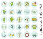 vector icons set. for web site... | Shutterstock .eps vector #208918966