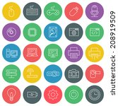 vector icons set. for web site... | Shutterstock .eps vector #208919509