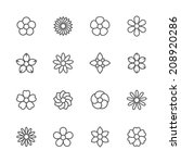 flower icons set. | Shutterstock .eps vector #208920286