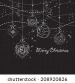 sparkling christmas ornaments | Shutterstock .eps vector #208920826