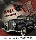 mafia or gangster background | Shutterstock .eps vector #208926730