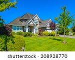 custom built luxury house with... | Shutterstock . vector #208928770