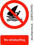 no windsurfing | Shutterstock .eps vector #208929490