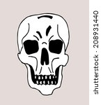 vector paint skull | Shutterstock .eps vector #208931440