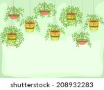 illustration featuring potted... | Shutterstock .eps vector #208932283