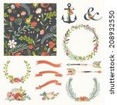 set of vector design elements ... | Shutterstock .eps vector #208932550