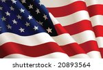 american flag  vector color... | Shutterstock .eps vector #20893564