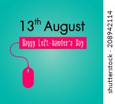 happy left handers day... | Shutterstock .eps vector #208942114