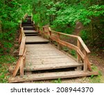 Wooden Stairway To Mountains...