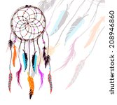 dream catcher illustration. | Shutterstock .eps vector #208946860