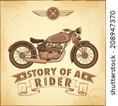 illustration of vintage... | Shutterstock .eps vector #208947370