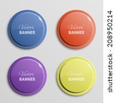 vector color banners | Shutterstock .eps vector #208950214