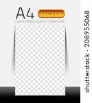 vector empty flyer show room ... | Shutterstock .eps vector #208955068