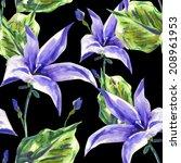 campanula seamless pattern | Shutterstock . vector #208961953