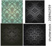 damask seamless vector pattern... | Shutterstock .eps vector #208961959