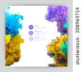 vector abstract cloud. ink... | Shutterstock .eps vector #208963714