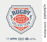 college east coast  rugby...   Shutterstock .eps vector #208969879