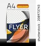 vector a4 cmyk modern flyer... | Shutterstock .eps vector #208973743