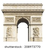 arc de triomphe  paris  france  ... | Shutterstock . vector #208973770