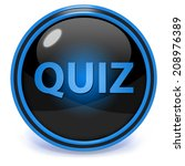 quiz circular icon on white... | Shutterstock . vector #208976389