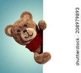 3d Render  Cute Vintage Teddy...