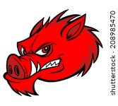 aggression,and,anger,cartoon,conflict,displeased,domestic,fighting,fitness,furious,mascot,pig,power,razorback,sports