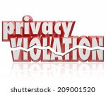 privacy violation words 3d... | Shutterstock . vector #209001520
