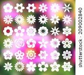 set of flower icons... | Shutterstock .eps vector #209002840