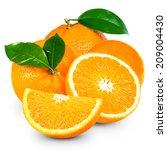 orange fruit isolated  | Shutterstock . vector #209004430