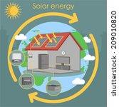 solar energy house panel scheme ... | Shutterstock .eps vector #209010820