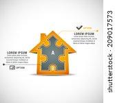 vector illustration of business ... | Shutterstock .eps vector #209017573
