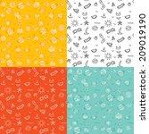 seamless four pattern... | Shutterstock .eps vector #209019190