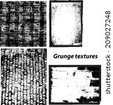 grunge textures set. background.... | Shutterstock .eps vector #209027248