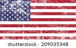 american grunge flag   vector   Shutterstock .eps vector #209035348