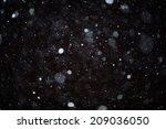 snow bokeh texture on black... | Shutterstock . vector #209036050