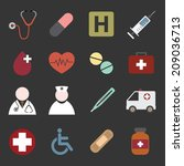medical icons | Shutterstock .eps vector #209036713