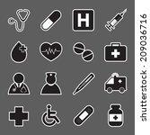 medical sticker icons | Shutterstock .eps vector #209036716