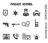 Police Icons  Mono Vector...