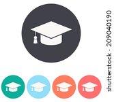 graduation cap   vector... | Shutterstock .eps vector #209040190