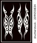 back tribal tattoo 4 | Shutterstock .eps vector #209053834