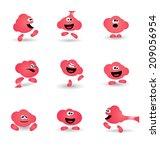 cute bubblegum cartoon... | Shutterstock .eps vector #209056954