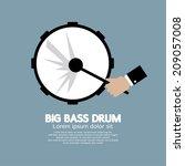 big bass drum music instrument...   Shutterstock .eps vector #209057008